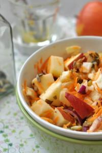 téli kétmagos saláta - laktózmentes recept