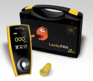 Hidrogén kilégzési teszthez használt készülék. Lacto FAN 2