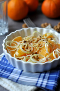 póréhagymás narancssaláta