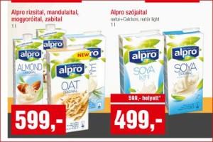 Alpro növényi italok akciója a SPAR hálózatban