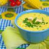 Kukorica krémleves tofukockákkal - laktózmentes recept
