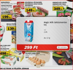 Auchan Magic Milk laktózmentes tej akció