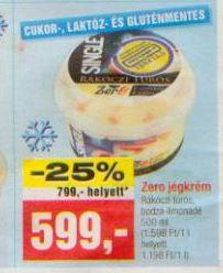 laktózmentes jégkrém akció
