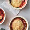 Rebarbarás-epres laktózmentes desszert