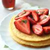 Amerikai palacsinta eperrel és juharsziruppal tejmentes recept