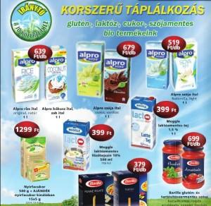 CBA Prima növényi ital, laktózmentes tej akció