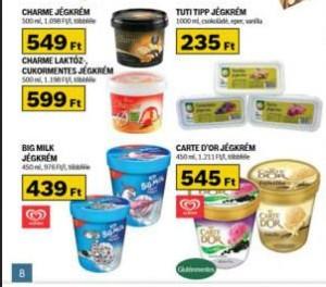 Auchan laktózmentes jégkrém akció