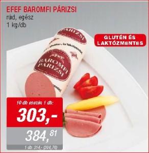 EFEF laktózmentes baromfi párizsi