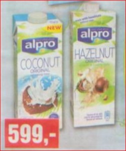 SPAR Alpro növényi italok akciója