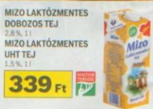 Auchan Mizo laktózmentes tej akció
