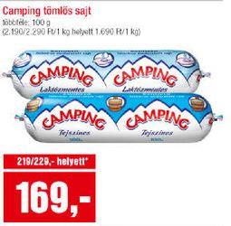 Spar Camping laktózmentes tömlős sajt akció