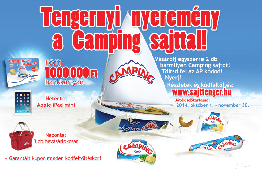 Laktózmentes Camping sajt is részt vesz a sajttenger akcióban