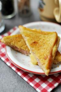 francia melegszendvics laktózmentesen elkészítve