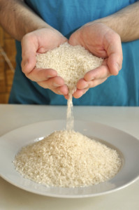 Rizs és víz adja a rizsital alapanyagait