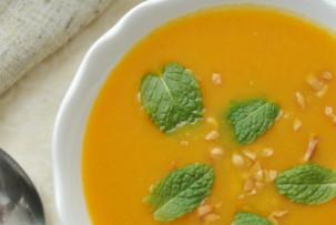 Fűszeres répaleves mogyoróval - laktózmentes leves