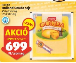 Aldi-máj-7-13- Milfina laktózmentes gouda sajt akció
