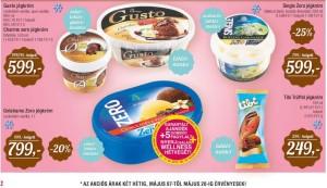 Interspar laktózmentes fagylaltok akciója