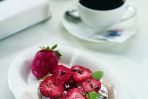 Epres bagel laktózmentes krémsajttal