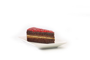 laktózmentes málnás csokoládétorta McCafé