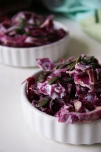 Joghurtos lilakáposztasaláta laktózmentes recept