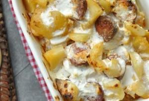 Laktózmentes rakott krumpli