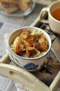 Laktózmentes meleg reggeli - köles fahéjas-almás feltéttel