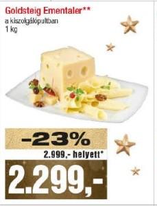 Goldteig ementáli laktózmentes sajt
