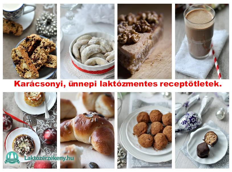 ünnepi. karácsonyi laktózmentes receptek