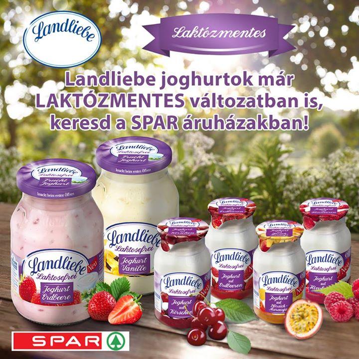 Új Landliebe laktózmentes joghurtok a Spar hálózatban