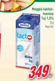 Meggle laktózmentes tej akció