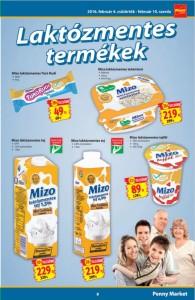 Penny Mizo laktózmentes termékek akciója