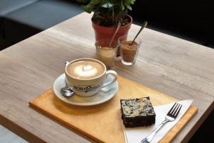 kávé és laktózmentes bownie
