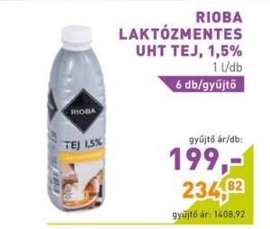 Rioba laktózmentes tej