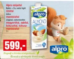 alpro növényi ital akció