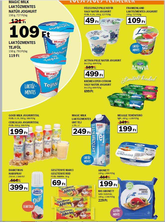 laktózmentes tejtermék akciója az Auchanban