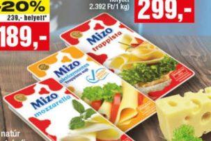mizo laktózmentes trappista sajt