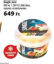 Auchan máj 19-25 Single Zero laktózmentes jégkrém