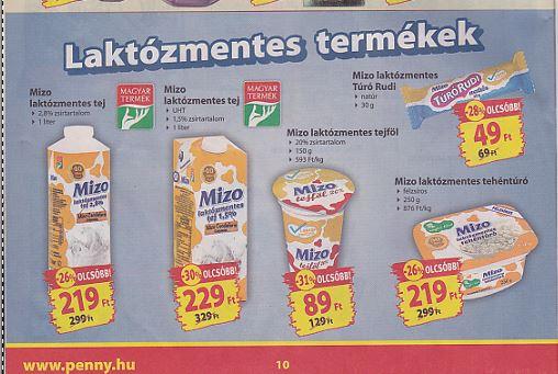 MiZo Laktózmentes tejtermék akció