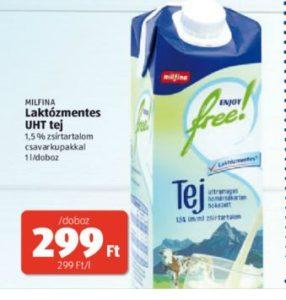 UHT laktózmentes tej