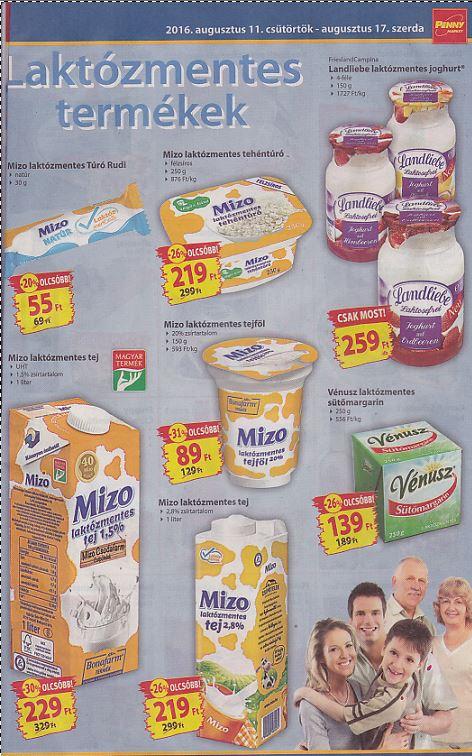 Penny-aug.11-17- Laktózmentese tejtermékek akciója