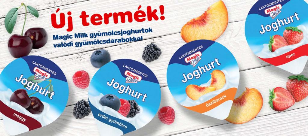 Magic Milk laktózmentes gyümölcsjoghurtok