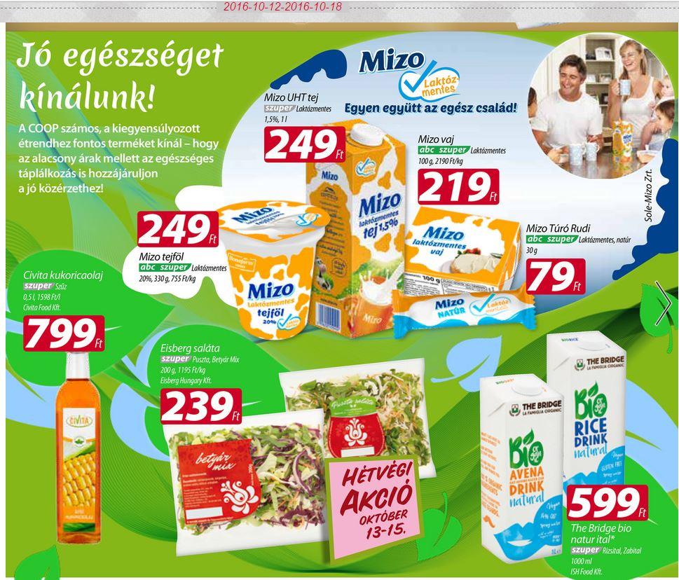 laktózmentes tejtermékek akció