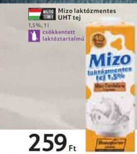 MiZo laktózmentes tej akció