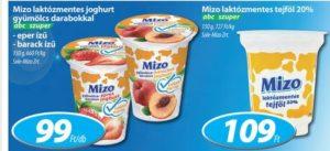 Coop Mizó laktózmentes tejtermékek akció