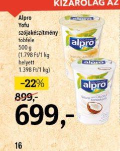 Alpro növényi joghurt
