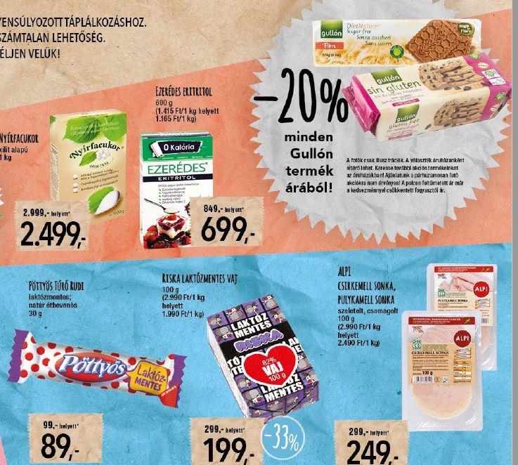 spar laktózmentes élelmiszerek akciója