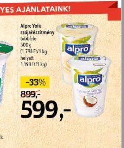 alpro yofu akció