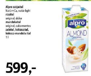 alpro nüvényi italok, növényi tej akció
