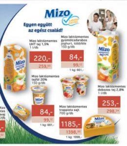 Metro Mizo laktózmentes tejtermékek