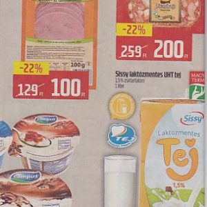 Laktózmentes termékek akciói 2017 március